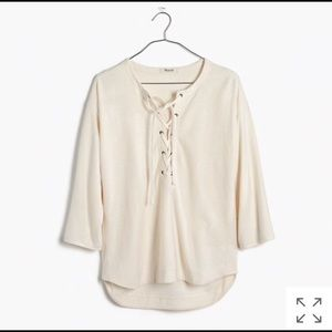 Madewell Libra Lace-Up Tee Size XS